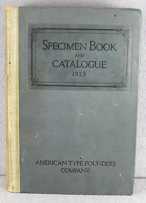 Original Issue Specimen Book & Catalogue 1923 American Type Founders Jersey City