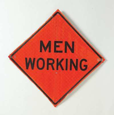 "Road Construction Sign, Usa-Sign, C/36-SBFO-3FH-HD MEN WORKING, 36""Hx36""W"