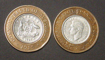 1915 - 1945 Seven Pence coin. Original coins used to create a unique talisman..