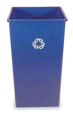 50 gal. Recycling Container Square, Blue Plastic RUBBERMAID FG395973BLUE