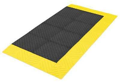 "Antifatigue Mat,Black,YllwBrdr,2ft6""x5ft NOTRAX 621S3060BY"