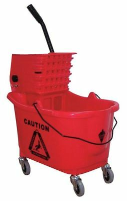 TOUGH GUY 5CJH7 Mop Bucket and Wringer,8-3/4 gal.,Red