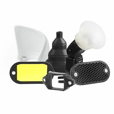 Magnetic Flash Modifier Light Control Kit Honeycomb Grid Sphere Bounce Snoot Gel