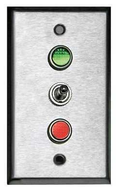 TAPCO 113632 Lighted Toggle Switch,120V,Green/Red LED