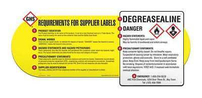 US HazCom Standard 29 CFR 1910.1200 Wall Chart, Ghs Safety, GHS1080