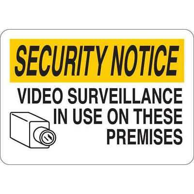 Security Notice Sign,English,5 in. H CONDOR 35GG60