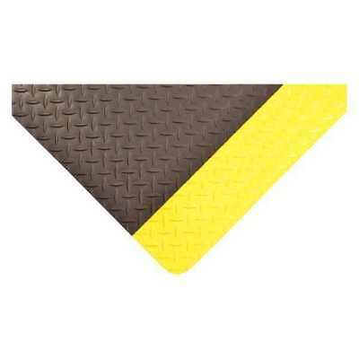 75 ft. Antifatigue Runner, Black with Yellow Border ,Condor, 3926709032X75