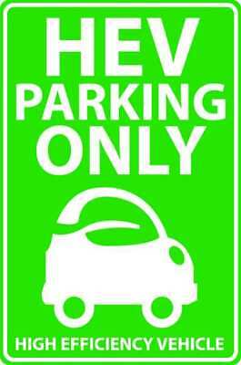 Parking Sign,18 x 12In,GRN/WHT,Eco Car ZING 2462