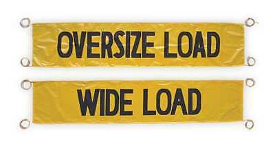 "Wide Load/Oversize Banner,18 x 96"" ZORO SELECT 03-11-000"