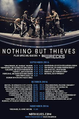 NOTHING BUT THIEVES 2016 NORTH AMERICAN CONCERT TOUR POSTER - Psychedelic Rock