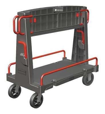 RUBBERMAID FG446500BLA Convertible A-Frame Panel Truck,44 In. L