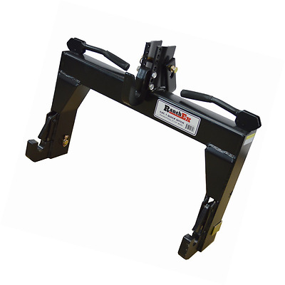 RanchEx Cat. 1 Quick Hitch, Adjustable Top Bracket, Includes Top Pins