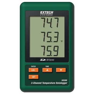 Temperature Datalogger, 3 Channel EXTECH SD200