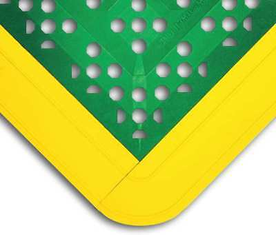 "Interlock Drainage Mat,Green,2ft3""x2ft6"" WEARWELL 546"