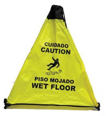Safety Cone,Caution Wet Floor,Bilingual NOVUS PRODUCTS PC111Y