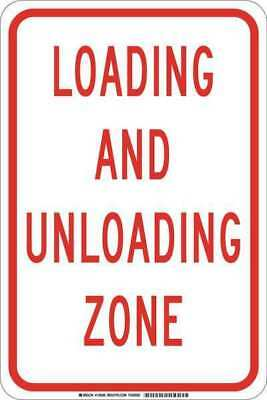 Traffic Sign,18 x 12In,Red/White BRADY 129589