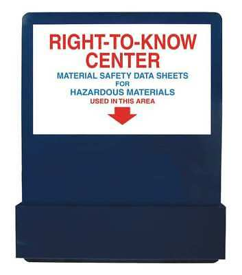 "Right-To-Know Board, Accuform Signs, ZRS701, 30""Hx24""W"