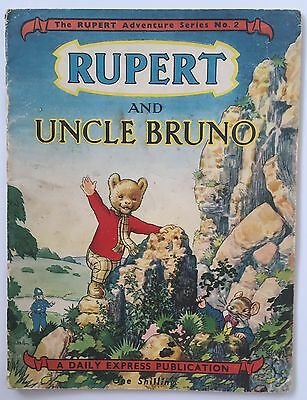 RUPERT Adventure Series No 2 UNCLE BRUNO July 1949 Near VG