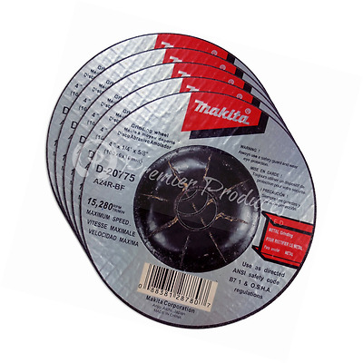 Makita 5 Pack - 4 Inch Grinding Wheel For Grinders - Aggressive Grinding For - x