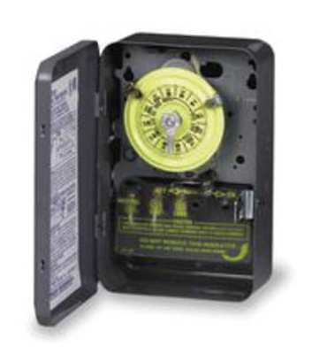 INTERMATIC T101R Timer,24 Hour,1 Pole,110-125V