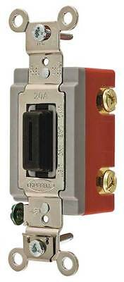 HUBBELL WIRING DEVICE-KELLEMS HBL1222L Wall Switch, 2-Pole, Toggle, 20A, Brown