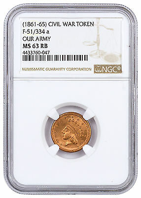 (1861-1865) United States Our Army Civil War Token NGC MS63 RB SKU46392