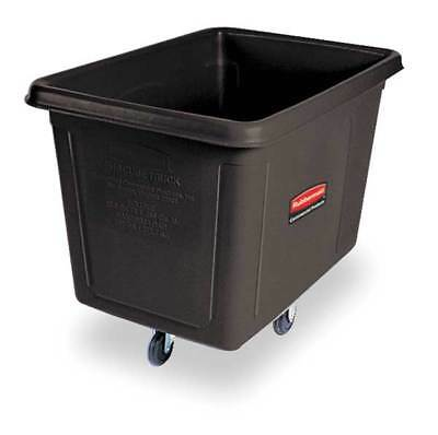 RUBBERMAID FG461900BLA Black Cube Truck, 20 Cu. Ft., 600 Lb. Load