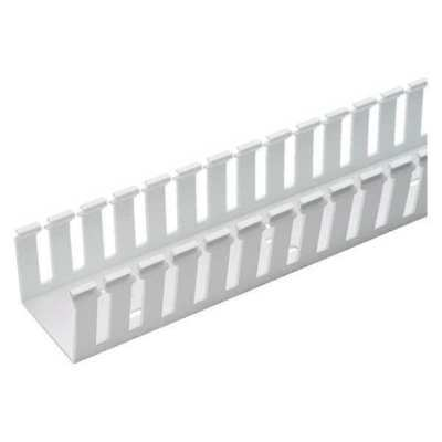 PANDUIT G1X2WH6 Wire Duct,Wide Slot,White,1.26 W x 2 D