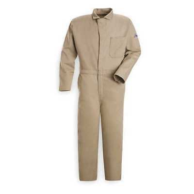Bulwark Flame Resistant Contractor Coverall, Khaki, 2XL, CEC2KH RG 50