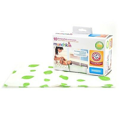 Munchkin Arm & Hammer Disposable Odor proof Changing Pads, 10 Pack, 11283 New