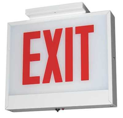 LITHONIA LIGHTING LXC W 1 RW EL CH3 M4 ACUITY LITHONIA Steel LED Exit Sign with