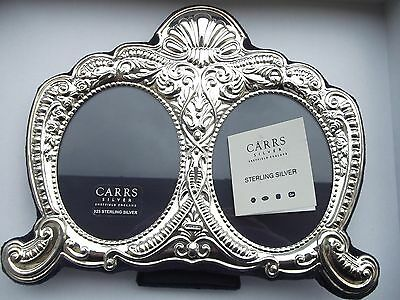 Superb Hallmarked Sterling Silver Large Ornate Double Picture Frame Carrs MINT