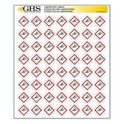 GHS SAFETY GHS1210 Label,Exploding Bomb,Gloss Paper,PK1120