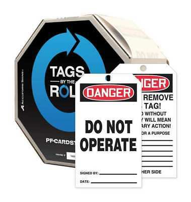 ACCUFORM SIGNS TAR121 Danger Tag, 6-1/4 x 3 In, Cardstock, PK250