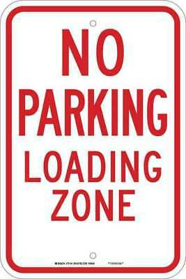 BRADY 75144 No Parking Sign,18 x 12In,Red/White