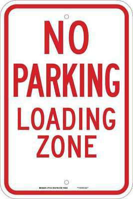 No Parking Sign,18 x 12In,Red/White BRADY 75144