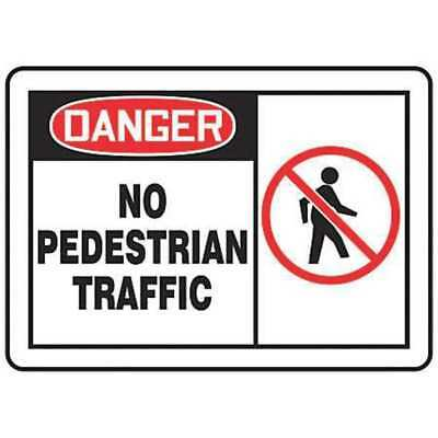 Traffic Sign,10 x 14In,BK and R/WHT,AL ACCUFORM MVHR006VA