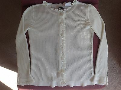 Baby Gap Girls Soft Cream Acrylic Cardigan. Age 3 Years.