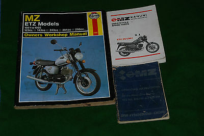 MZ  ETZ MODELS manuals x3  etz250 etz251 etz301
