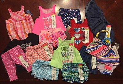NWT Adorable Baby Girl Spring/Summer CLOTHES LOT Outfit Sets Newborn Lot # 2
