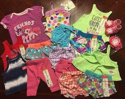 NWT Adorable Baby Girl Spring/Summer CLOTHES LOT Outfit Newborn & 0-3M Lot # 4