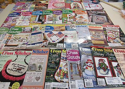 29 Back Issues Of Cross Stitcher Magazines 1994-2005