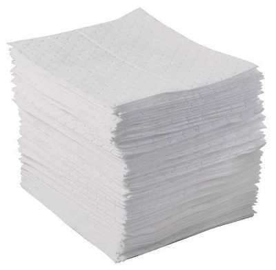Absorbent Pads,White,17 In. L,PK100 BRADY SPC ABSORBENTS BPO100