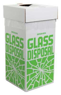 Sp Scienceware 40 lb. Rectangular White Trash Can, 24653-0001