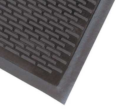 Rubber Entrance Mat,Black,3ft. x 5ft. NOTRAX 340S0035BL