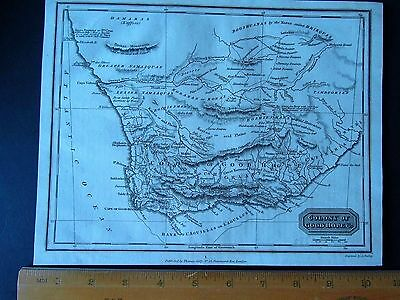 "ANTIQUE MAP - SOUTH AFRICA - 10"" by 8"" - UNIVERSAL GEOGRAPHY - C. KELLY 1814"