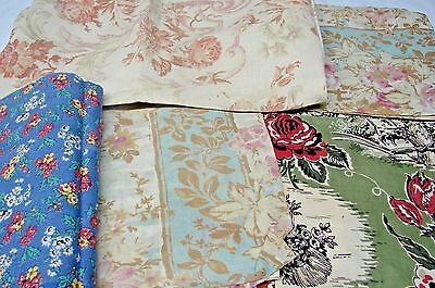 VINTAGE LOT ANTIQUE EARLY 1900s COTTON PILLOW THROW COVERS