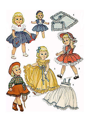 """Toni by Ideal 21"""" Doll Clothing PATTERN 3729 Western Cowgirl outfit Boots Hat"""