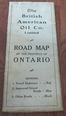Vintage British American Oil First Road Map 1929