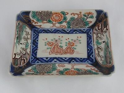 Japanese Imari Antique Sweetmeat Rectangular Hand Painted Dish Tray
